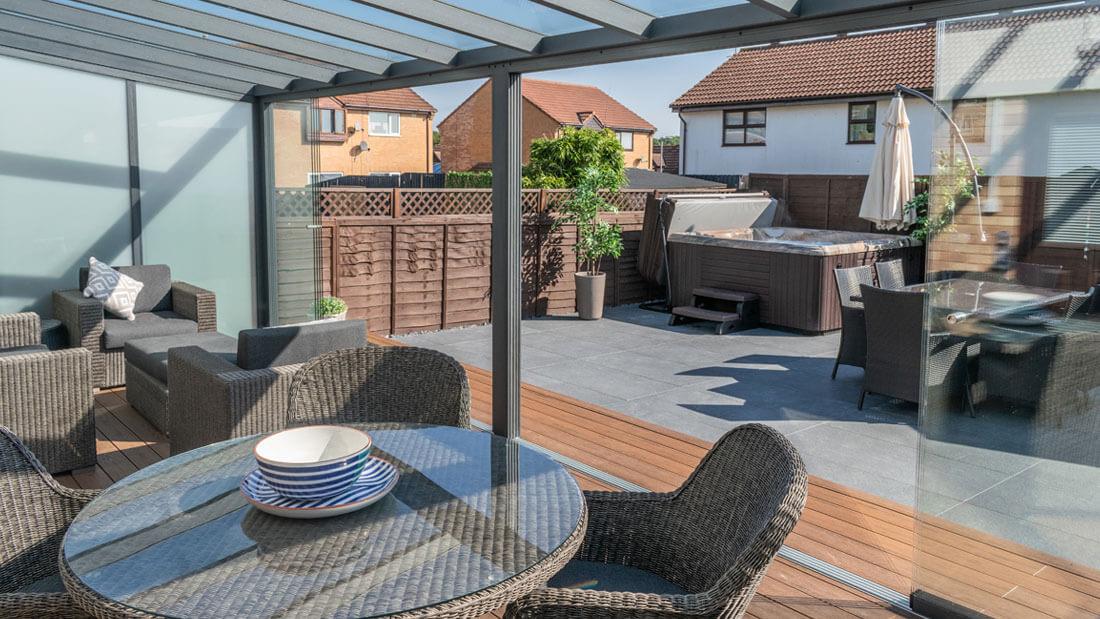 Garden room and patio