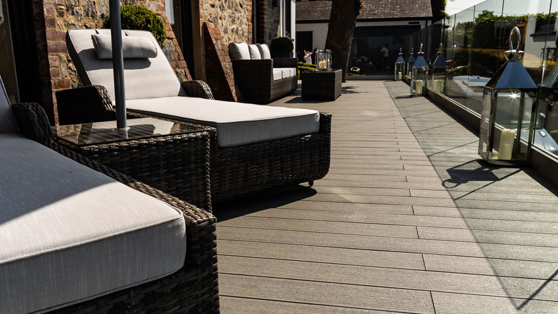 Loungers on decking