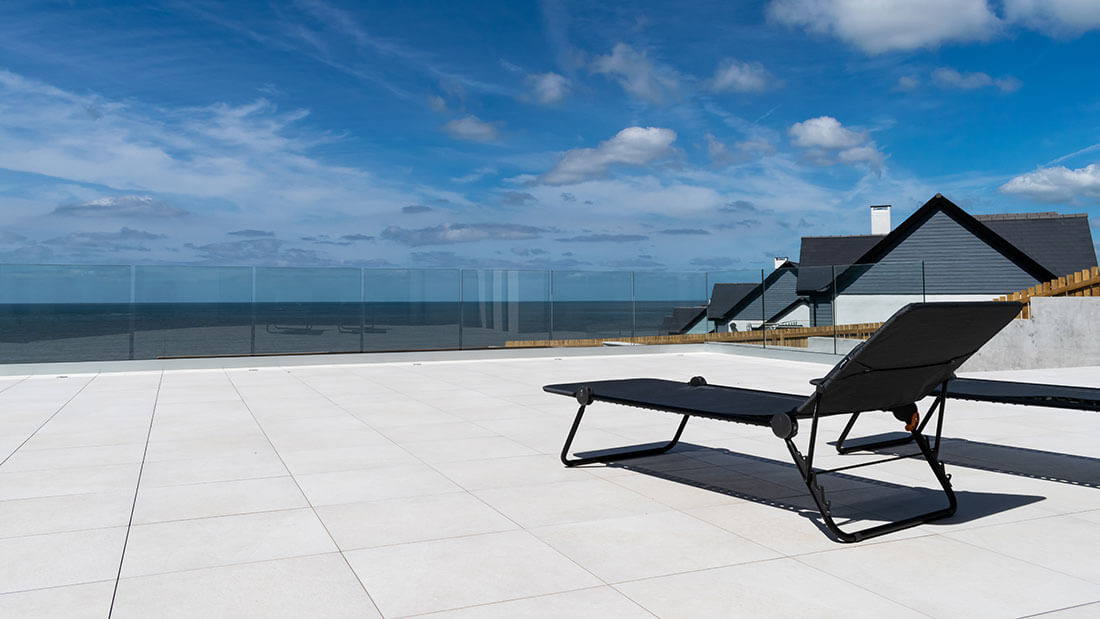 Patio with loungers